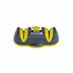 RoyalFord RFU9031 2 Stage Suction Knife Sharpener , Effectively Sharpen Knives , Easy to Use, Non-Slip Suction Feet, Coarse Diamond & Ceramic Wheel Slot