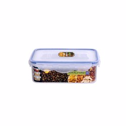 RoyalFord RF415APB 350ml Meal Prep Container |Transparent Food Container | BPA Free, Reusable, Airtight Food Storage Tray with Snap Locking Lid | Microwavable, Freezer & Dishwasher Safe| Bento Lunch Box