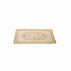 RoyalFord RF5353 6Pc Table Place Mat Set , PVC Non-Slip Dining Table Mats , Heat Resistant, Stain-Resistant & Easy to Clean Placemats , Stylish Home Decor Dinner Table Protector , 12x18 cm , Square Shape
