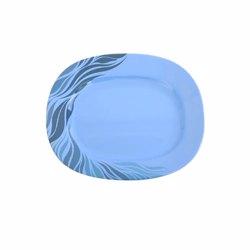 "Royalford RF8143 Melamine Aqua Thai Oval Plate, 14"""