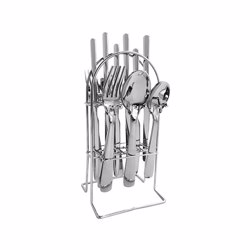 RoyalFord RF8894 Deluxe London Cutlery Set, 24-Piece, 15 Year Guarantee, Stainless Steel, Dinner Cutlery Utensil Set
