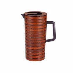 RoyalFord RF8218 Cherrywood Acrylic Water Jug, 2.4L