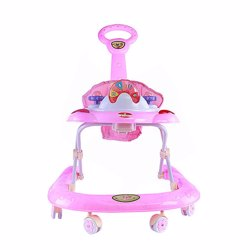 Baby Plus BP7752-PINK Walker for Girls, 0-2 Years