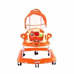 BabyPlus BP6002W-ORG Baby Walker With Canopy Orange 4-16 M