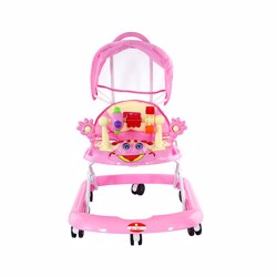 BabyPlus BP6002W-PINK Baby Walker With Canopy Pink 4-16 M