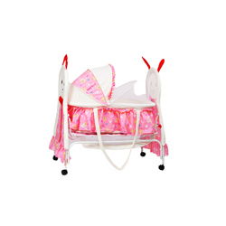 Baby Plus BP8297 Baby swing cradle cum crib With removable Mosquito Net - Pink
