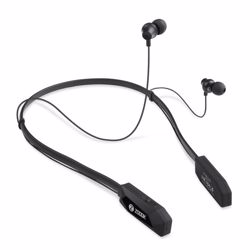 Zoook Wireless Bluetooth Neckband style earphones with 20 hour playing time & magnetic latch design - Black preview