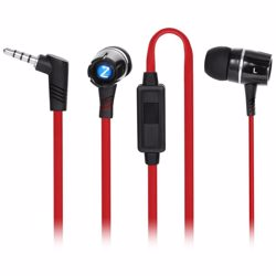 Zoook Noise Isolating EarPhones with built in Microphone - Red+Black preview