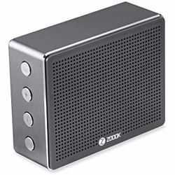 Zoook Metal Body Bluetooth Speaker with 5W Output and 1800mAh Battery. TF Card support - Chrome preview
