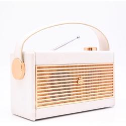 GPO Darcy Portable Analogue Radio Cream