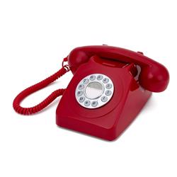 GPO 746 Push-Button 1970s-style Retro Landline Telephone Red