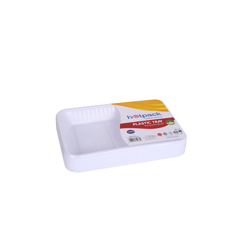 Hotpack Rectangle Plastic Serving Tray White 189x28 millimeter