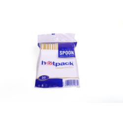 Hotpack-Plastic Desert Spoon-50Pcx40Pkt