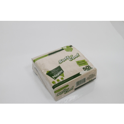 Soft n Cool 50-Piece Disposable Napkin Pack Brown 33X33 centimeter