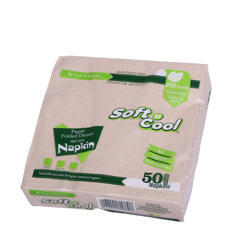 Soft n Cool 50-Piece Disposable Napkin Pack Brown 40X40 centimeter