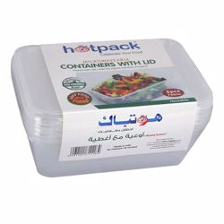 Hotpack 20 Pack Food Container With Lid Clear 750 ml