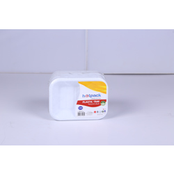 Hotpack 25-Piece Plastic Disposable Plates + 50 Free Plastic Cups White 10 inch