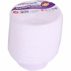 Hotpack 25-Piece Foam Bowl White 8 ounce