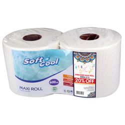 Hotpack 2-Piece Paper Maxi Kitchen Roll White 300 meter