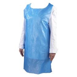 Hotpack 1000-Piece Plastic Apron Blue 28x 46 centimeter