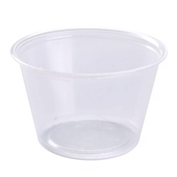 Hotpack 500- Piece Portion Cup Set Clear 1 ounce