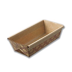 Hotpack 1000-Piece Rectangle Baking Mould Brown 150x 65x 50 millimeter