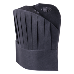 Hotpack Non Woven Chef Hat 11 Inch Black-4 Packets (200Pcs)