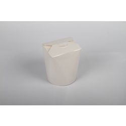 Hotpack 500-Piece Round Paper Pail Box White 16 ounce
