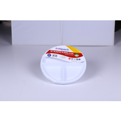 Hotpack 500- Piece Round Plastic Plate Set White 10 inch