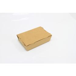 Hotpack 150x100x45 mm Kraft Lunch Box-100Pcs