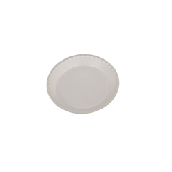 Hotpack 500- Piece Round Foam Plate Set White 9 inch