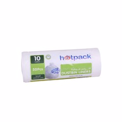 Hotpack Dustbin Bag Roll White 45x 55 centimeter