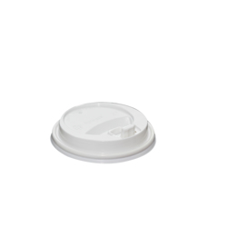 Hotpack 500- Piece Plastic Lid Set For Ripple Cup White 20 ounce
