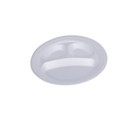 Hotpack 500- Piece Round Foam Plate Set White 10 inch