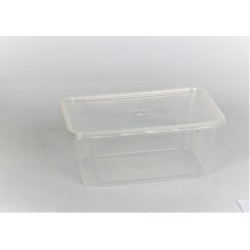 Hotpack 250- Piece Rectangular Container Set 1500cc Clear
