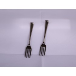 Hotpack 50-Piece Mini Fork Set Black
