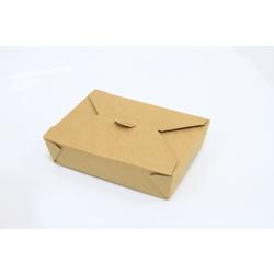Hotpack Kraft Pe Take Away Box Beige 72 ounce