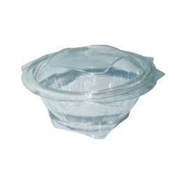 Hotpack Round Salad Bowl Clear 12 ounce