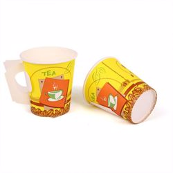 Hotpack Paper Cup 7 Oz with Handle, 1000 Pieces, (50x20 Packets)