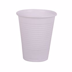 Hotpack 50-Piece Plastic Cups White 6 ounce