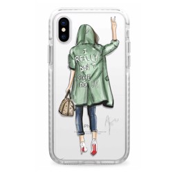 CASETIFY Snap Case Don''''t Care For iPhone XS Max