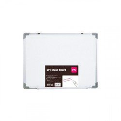 Deli Whiteboard -900x600Mm(Silver)