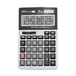 Deli Desktop Check Calculator-14 Digits,Two Power,Color Box