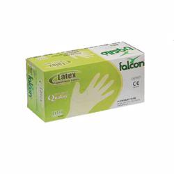 Falcon Latex Gloves Medium White 100 pcs Powder Free