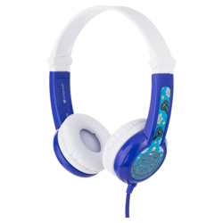 BUDDYPHONES Connect On-Ear Wired Headphones Blue