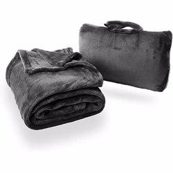 CABEAU Fold ''''n Go Blanket Charcoal Black