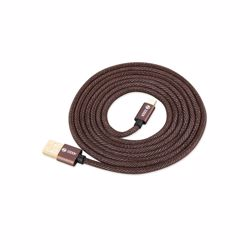 Zoook Denim Fabric Pure Copper Cable for Charge & Sync 1m / 2A Support/ iPhone/iPad - Denim Brown preview