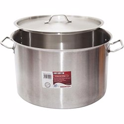 Chefset Steel Stock Pot With Lid 60cm
