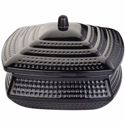 Dinewell Square Handi Black With Lid 18cm
