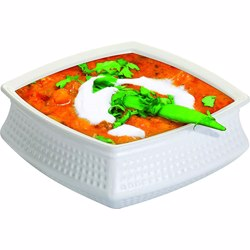 Dinewell Square Handi White With Lid 20cm